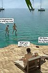 Family orgy at the beach