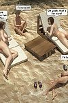 Family orgy at the beach - part 3