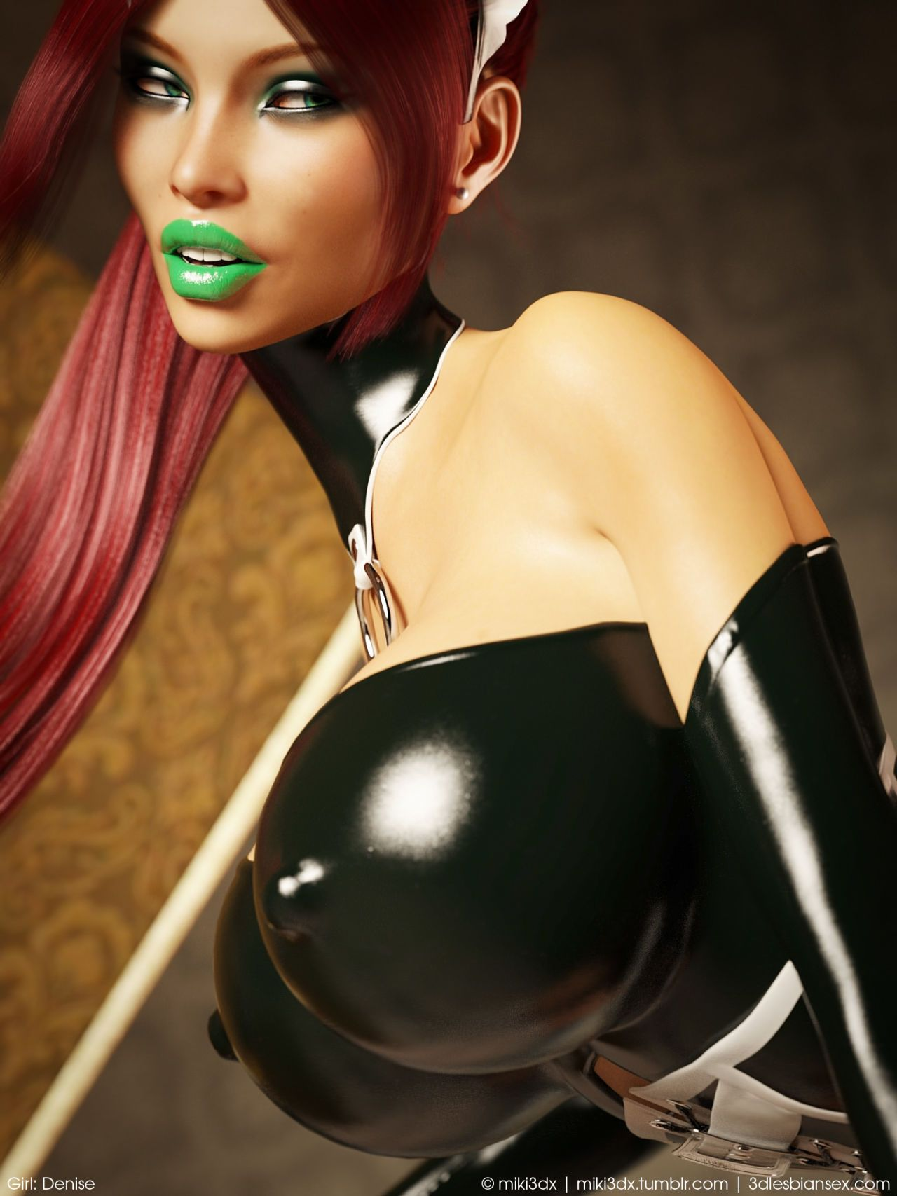 Miki3DX – Denise Latex Maid Updated