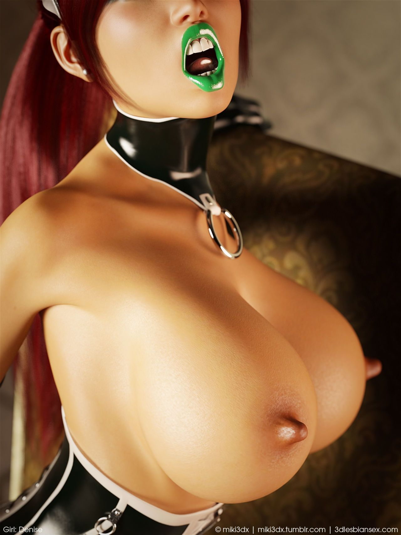 Miki3DX – Denise Latex Maid Updated - part 2