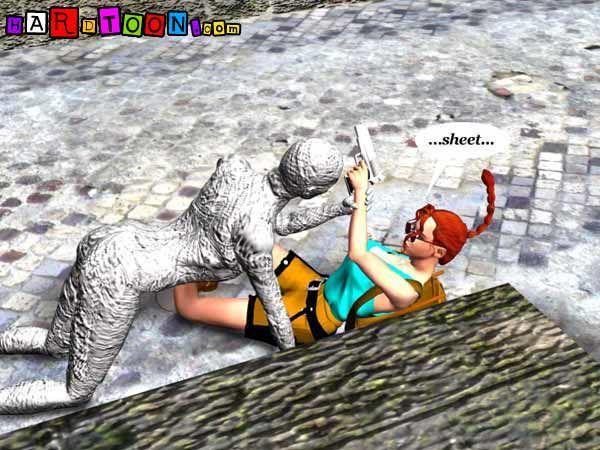 Lara Croft was raped by Mummy (3D)
