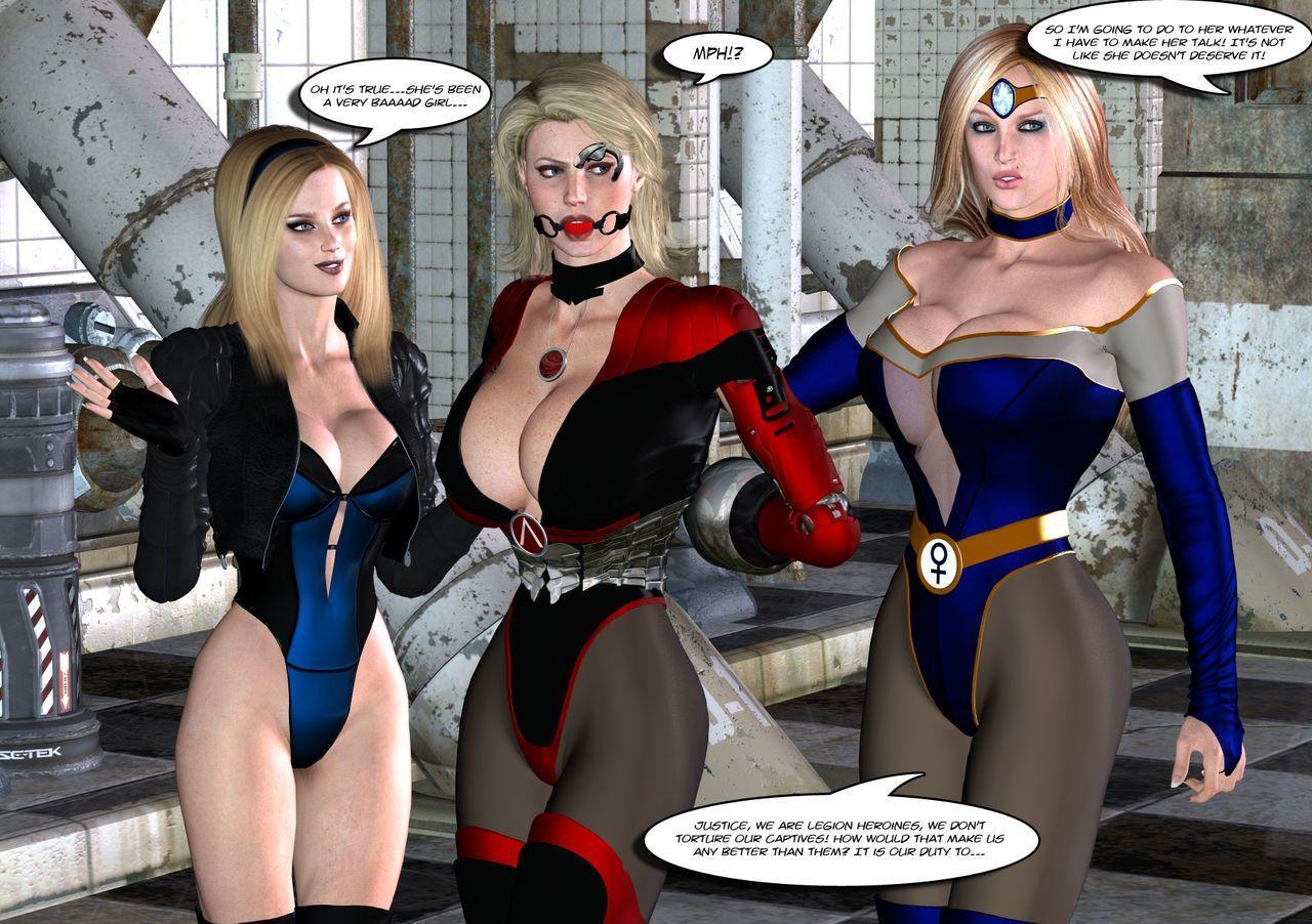 [Uroboros] Legion Of Superheroines 47 - 57 - part 6