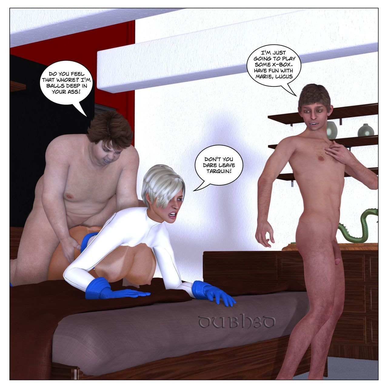[Dubh3d] Marie Claude - Cosplay Threesome