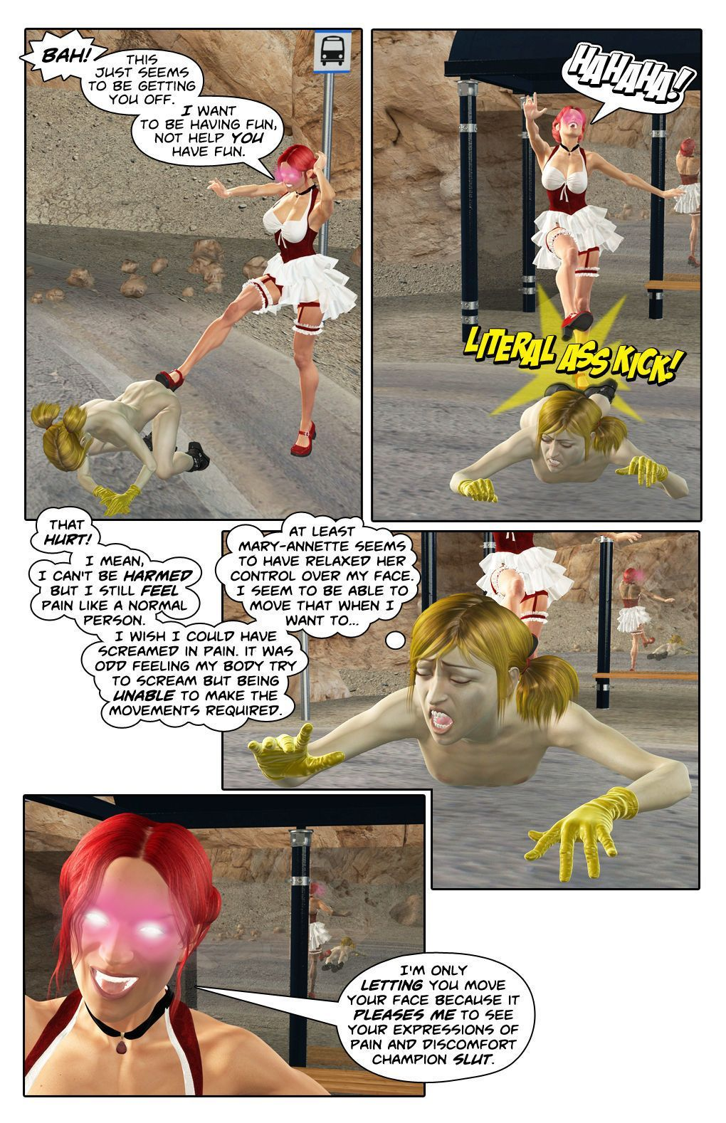 Champion Girl Vs Mary-Annette (A Heroines Perilous World Comc)
