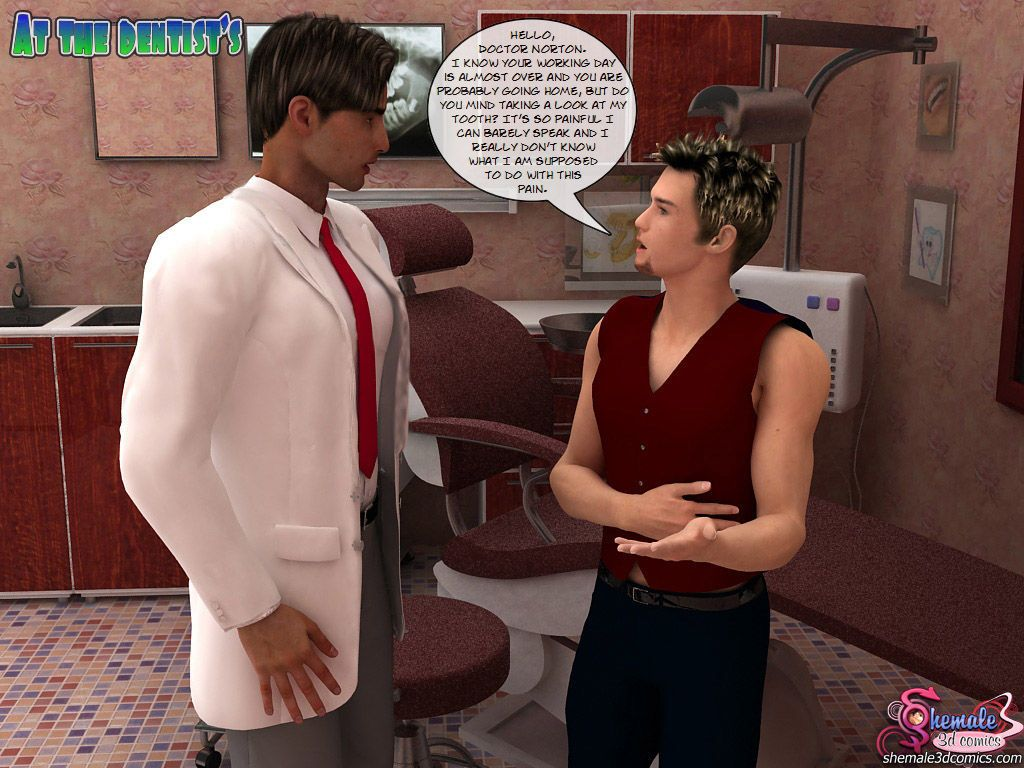 At the dentist (3d shemale)