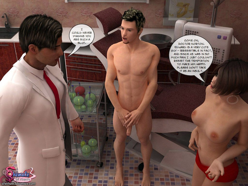 At the dentist (3d shemale) - part 2