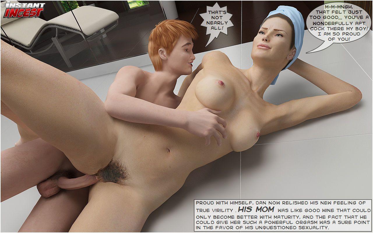 3D Mom and Son Bathroom Fuck - part 2