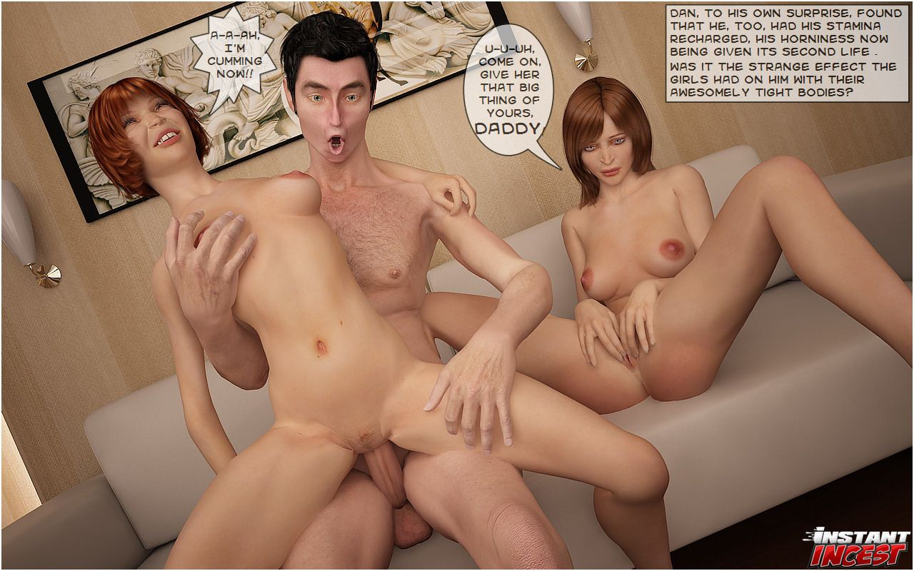 Dad and girls in incestuous threesome - part 3