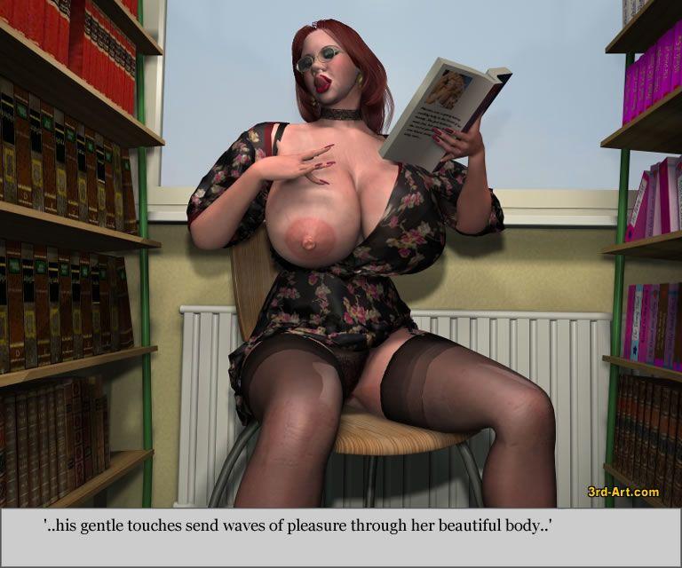 3Darlings Model Nadia at the Library - part 2