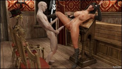 Blackadder- Halloween 2,3D sex - part 4