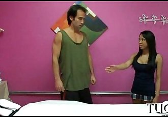 Unexpected sex in massage room - 6 min