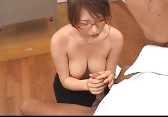 Stacked Japanese Teacher sucks her student off - 7 min