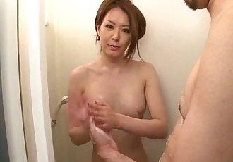 Serious shower adventure for horny China Mimura - 12 min