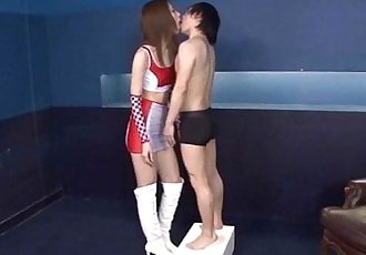 Tall girl and short guy making out - 3 min
