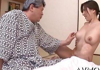 Slim milf loves riding schlongs - 5 min