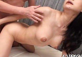 Sexy oriental mom strip tease - 5 min