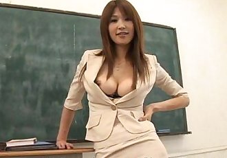 Hot busty Ai Kurosawa dirty teacher with huge tits! - 6 min