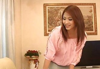 Asian maid getting her master off with a jack off - 1 min 6 sec