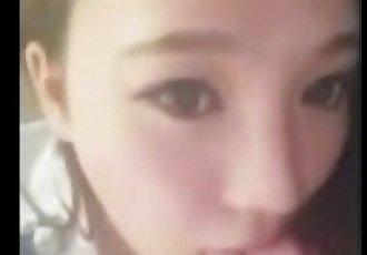 Chinese girlfriend gives amazing blowjob - 3 min