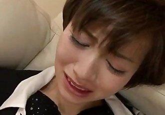 Office threesome along Akina Hara - 12 min