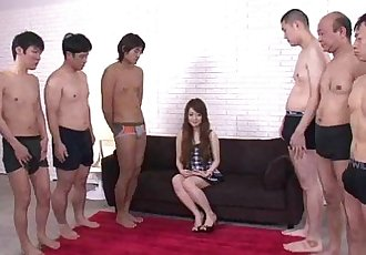 Big thick cocks attack Ria pretty little mouth leaving her soaking wet - 5 min