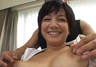 Cute Meguru Kosaka big tits action - 6 min