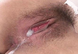 Japanese babe gets creampied - 7 min HD