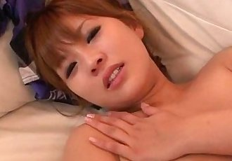 Rinka Aiuchi gets a huge dick to smash her hairy cunt - 12 min