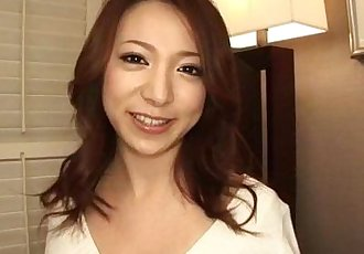 Kanako Tsuchiyo tries tasty cock between her smooth lips - 10 min