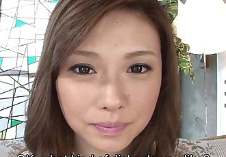 Uncensored Japanese Ayumu Sena blowjob interview Subtitled - 5 min HD