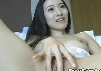 Asian Chick Toys her Pussy and gets Huge Orgams - 13 min