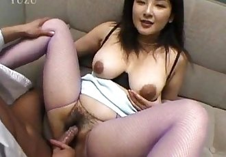 Yui Tokui sucks dongs and is drilled in hairy slit - 10 min