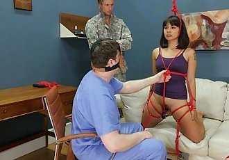 Big-dick drill sergeant doles out rough anal training on recruit - 11 min HD