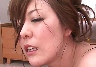 Japanese hairy milf getting her asshole cummed on - 5 min