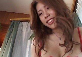 Haruka Sanada puts feet in man mouth - 10 min