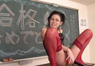 Celebrating by fucking the naughty teacher anally - 1 min 15 sec