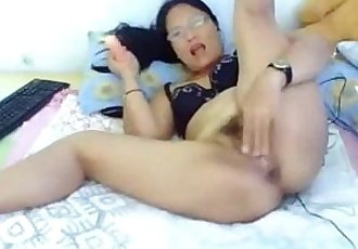Asian Mom Rides that Dildo - Chat With Her @ Asiancamgirls.mooo.com - 10 min