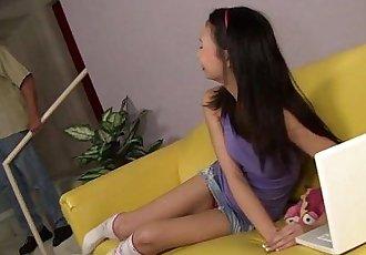 Asian Teen Eats Stepdads Ass!HD