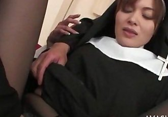 Beautiful asian nun gets gangbanged - 6 min