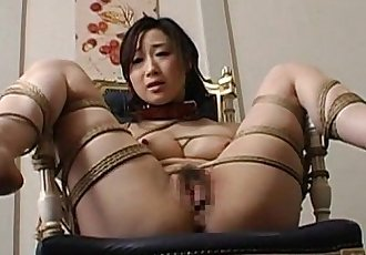 Toy fucked tied up and pussy waxed - 8 min