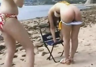 051 Spanking On the Beach - 4 min