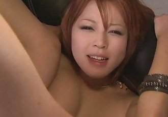 Filthy redhead Asian babe showing off her sexy ass and big tits - 8 min