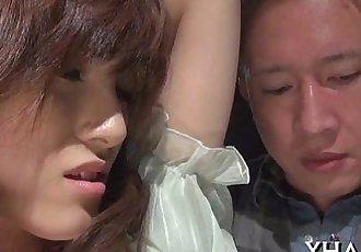 Japanese slut fucks with sex tool - 5 min