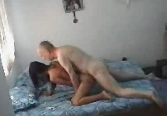 Asian Hottie Does Old Man - 9 min
