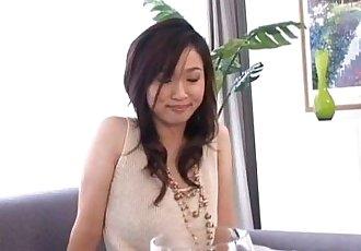 Maaya Kurihara sticks vibrator in hairy slit - 10 min