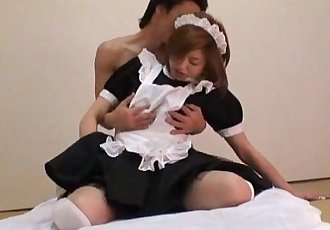 Harsh sex along Asian maid Ai - 8 min