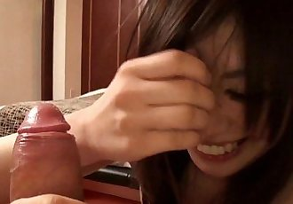Subtitles POV Japanese amateur blowjob uncensored in HD - 3 min HD