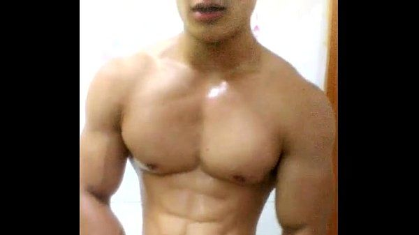 china chinese gay muscle guy young man amateur selfie solo wank jerking.off 中国..