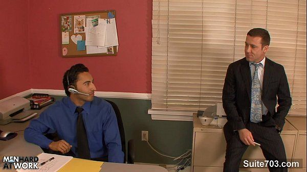 Amazing gay fucking butts in the officeHD