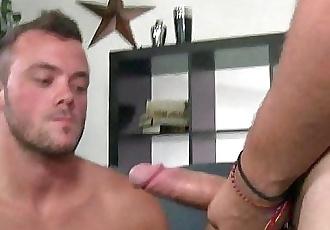 Str8 dudes first gay sex with 9 hung bi jock.